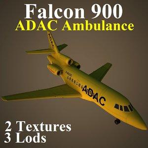 3d model dassault falcon 900 adc