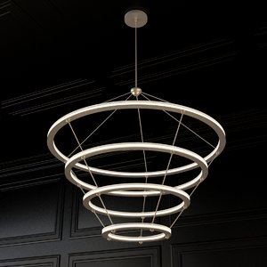 3d model of halo chandelier roll hill