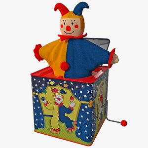 jack box toy 3d model