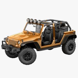 3d model jeep wrangler moab special
