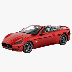 maserati grancabrio 2013 3d model