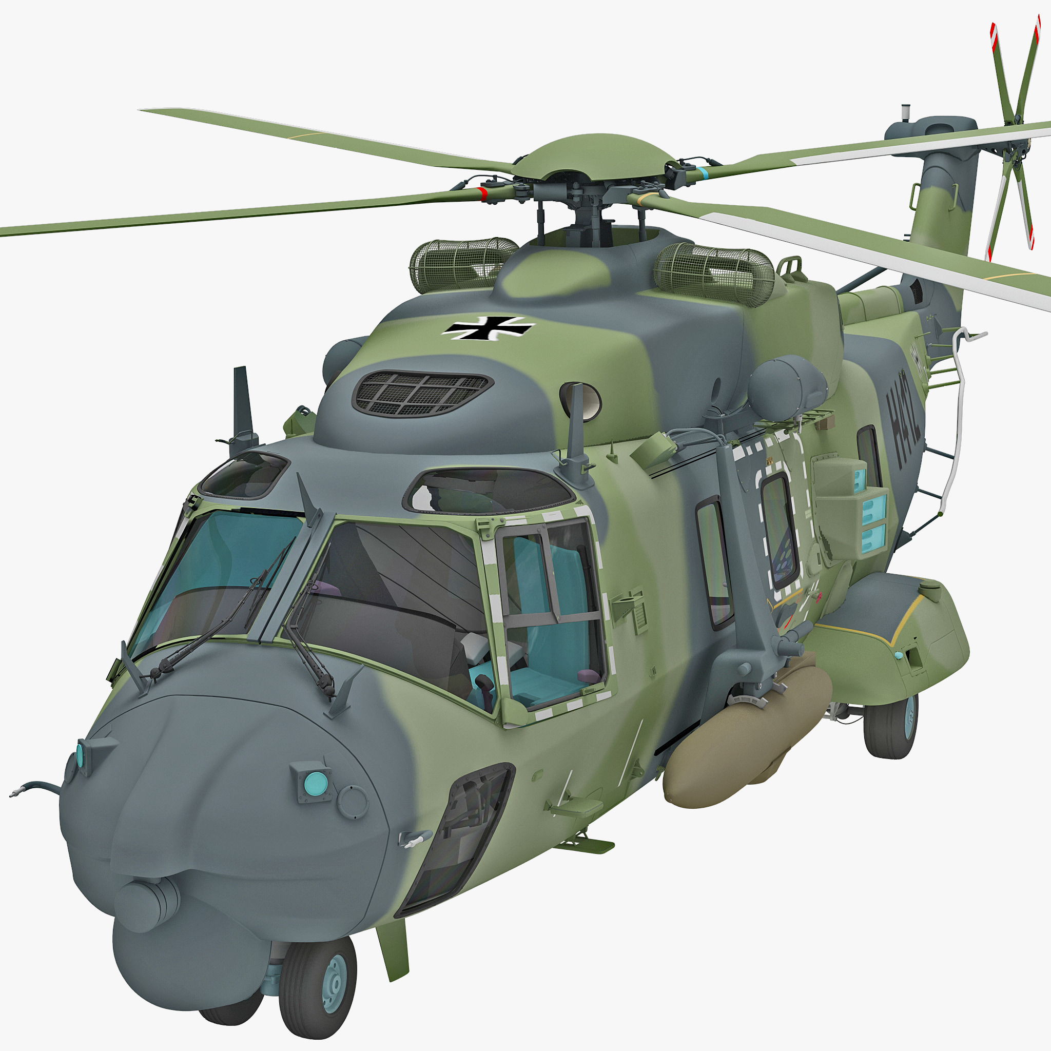 3d military helicopter nhindustries nh90 model
