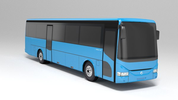 low-poly bus irisbus arway 3d max