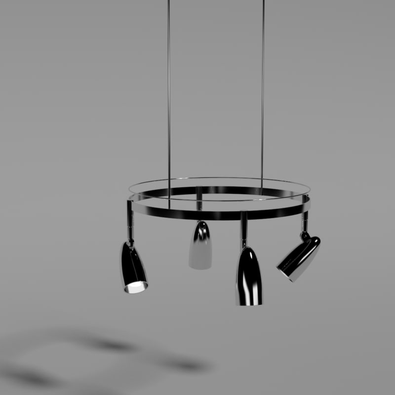 3d obj hanging lights