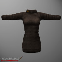 3d model woman s sweater dress