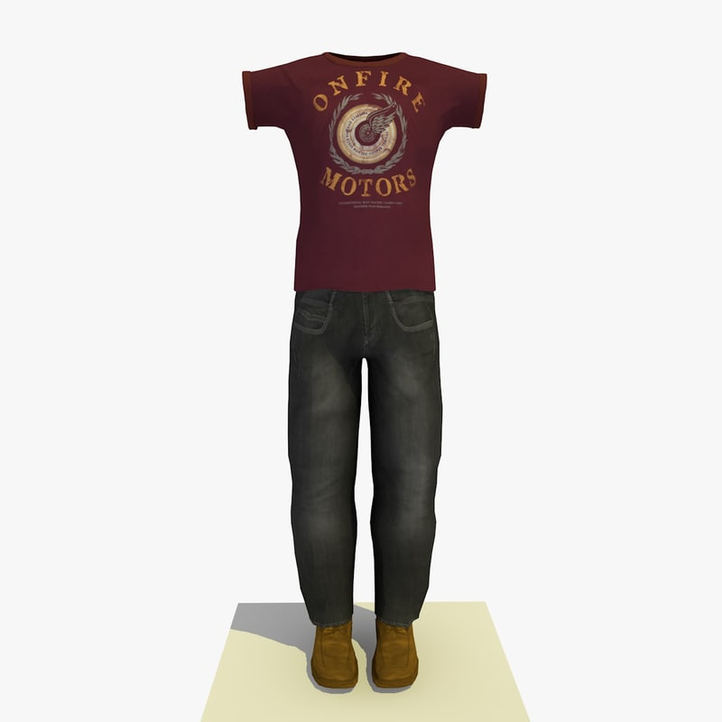 man clothes t-shirt 3d model