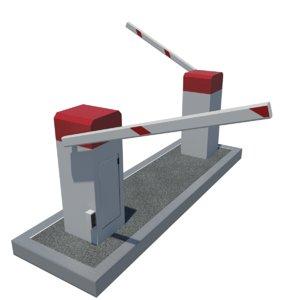 3d parking barrier model
