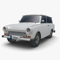 Trabant 601 Combi (Low Poly)