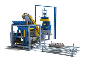 3d production line model