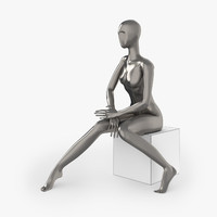 slim female mannequins 3d max