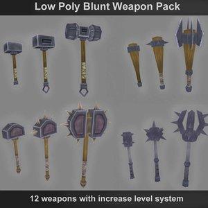 maya blunt weapons polys