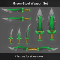 Green-Steel Weapon Set