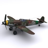 german fighter bf-109s defence 3d max