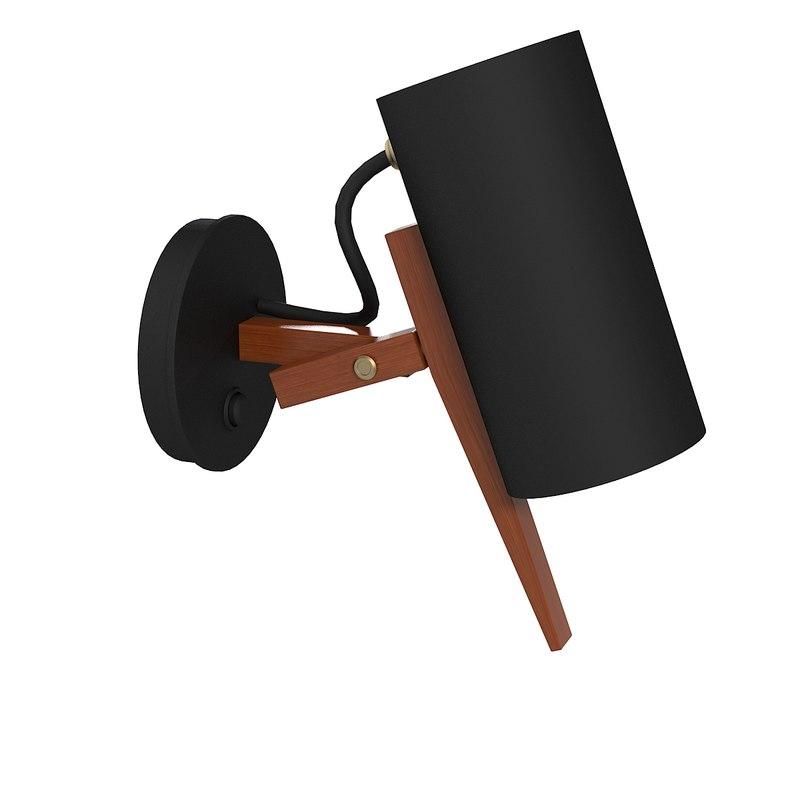 3d model scantling wall lamp