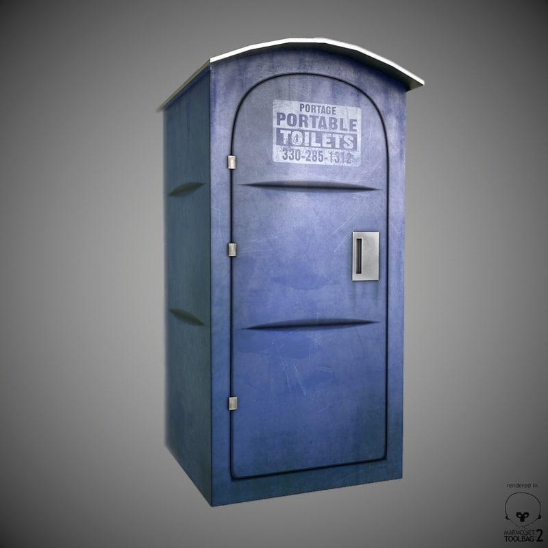 3d max portable toilet