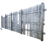 3d model broken fence