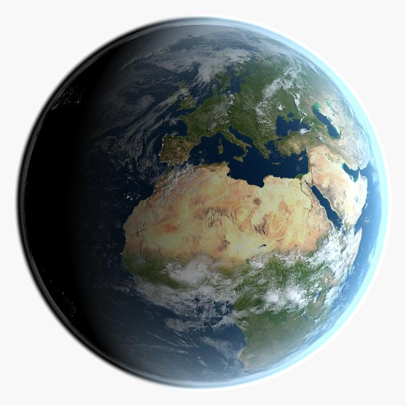 3d model earth clouds 32k