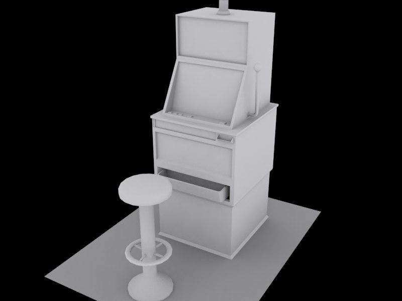 slot machine 3d max