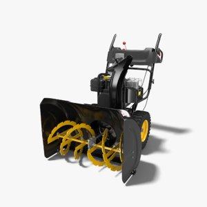 snow blower 3d model