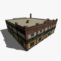 3d model of car repair workshop