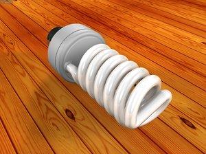 3d fluorescent spiral bulb model