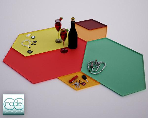 3d model of kaleido trays