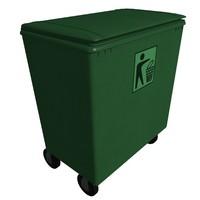 waste bin m-02 3d model