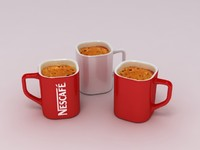 3d model of nescaf coffee cup