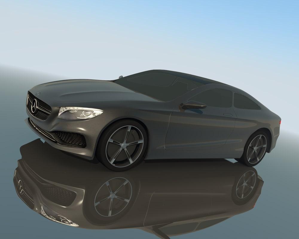 2014 mercedes s-class coupe 3d model