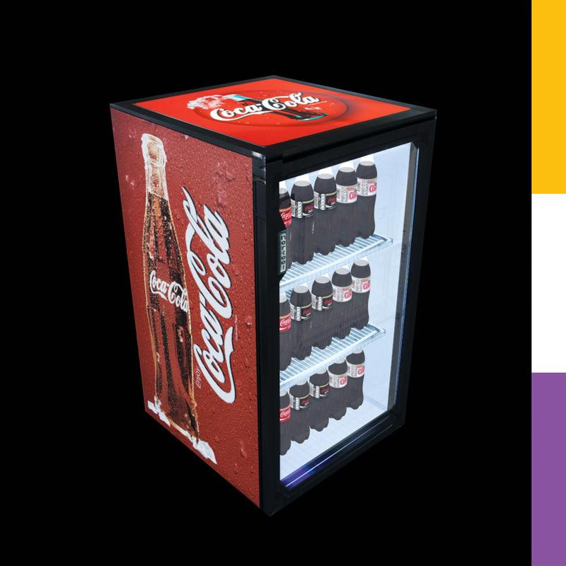 drinks fridge coca-cola sct 3d model