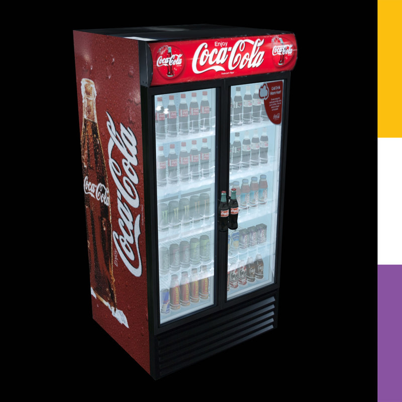 drinks fridge coca-cola gdmdd 3d 3ds