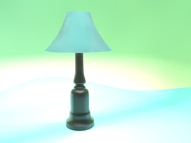 lamp modeled 3ds
