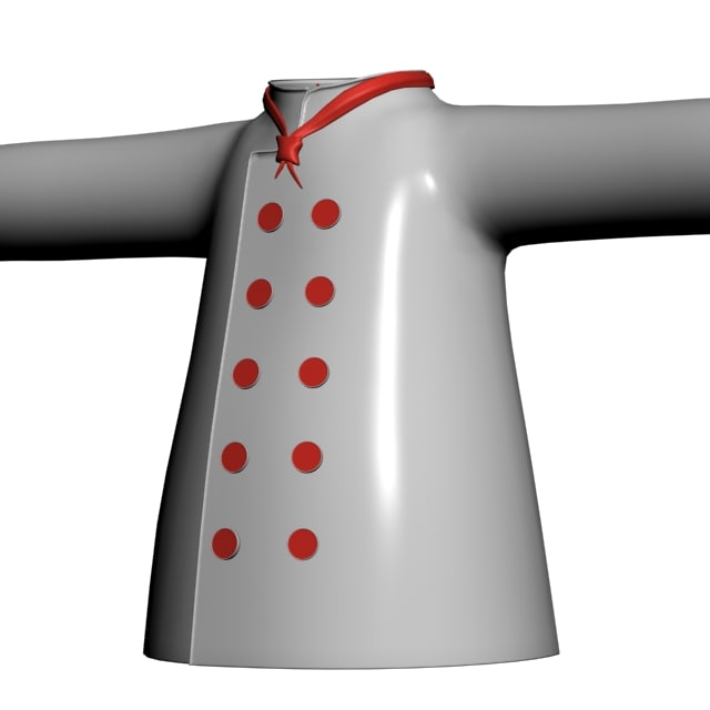 3d cartoon coat model