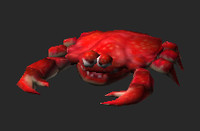 crab animation walk obj
