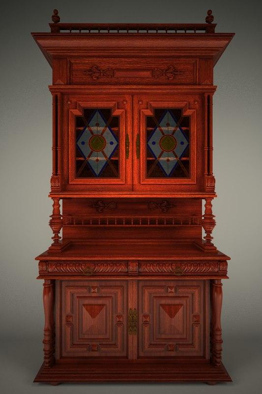 3d model cupboard jam closet