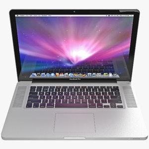3d model apple macbookpro 15