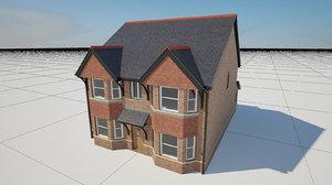 brick house hanging tiles 3d ma