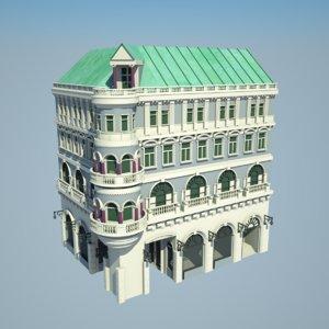house corner 3d model