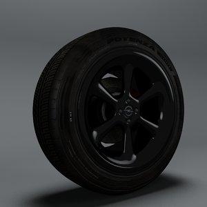 car tire 3d model