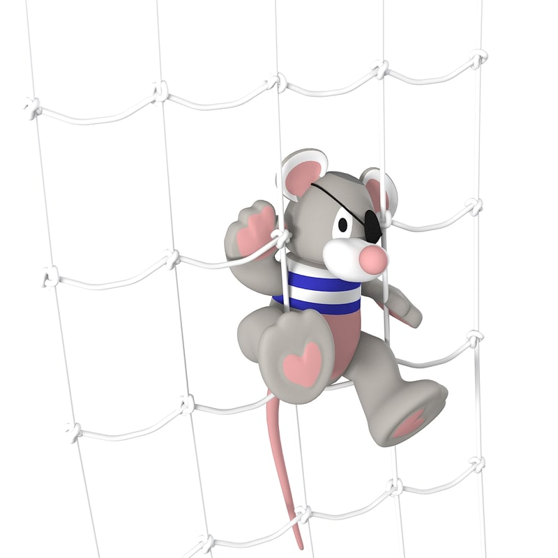 3d pirate net mouse model