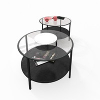 circle coffee tables obj