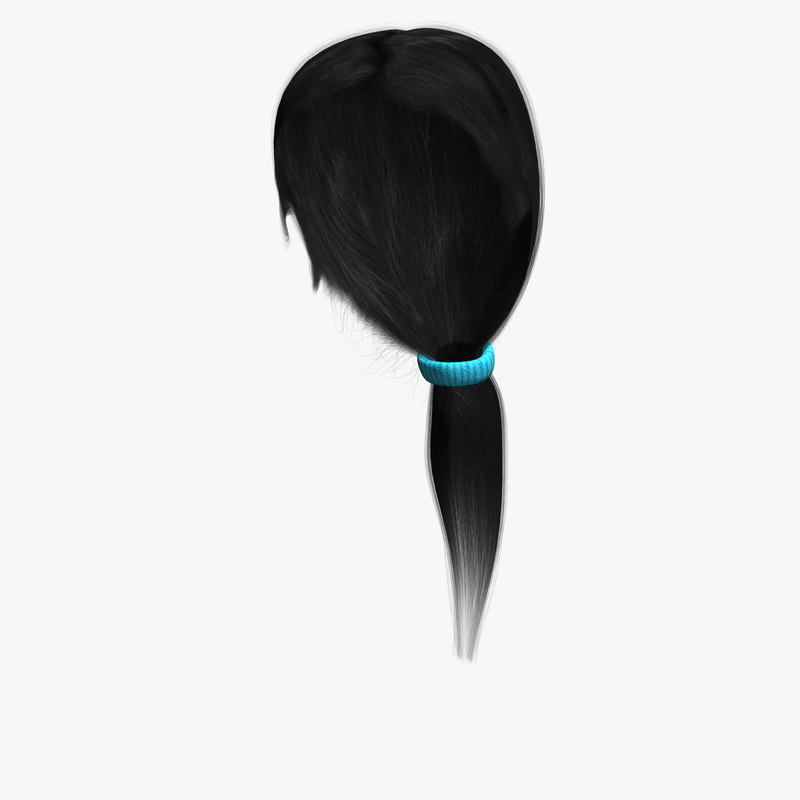 3d model of mary hair human character