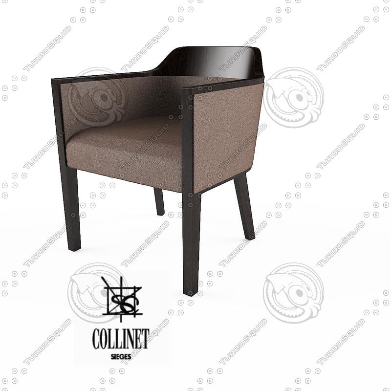 3d collinet 2117 william armchair model