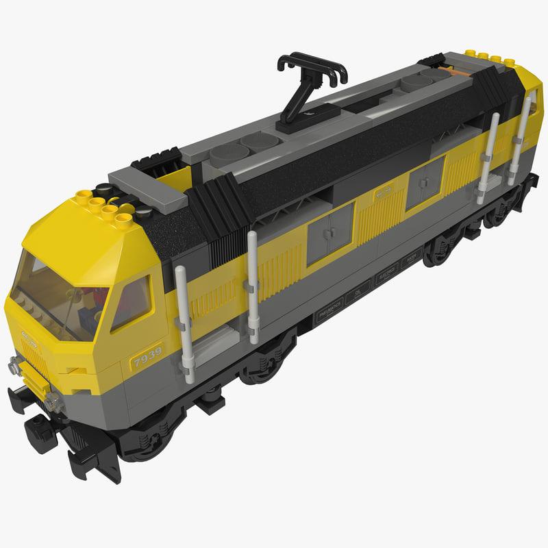 lego train obj