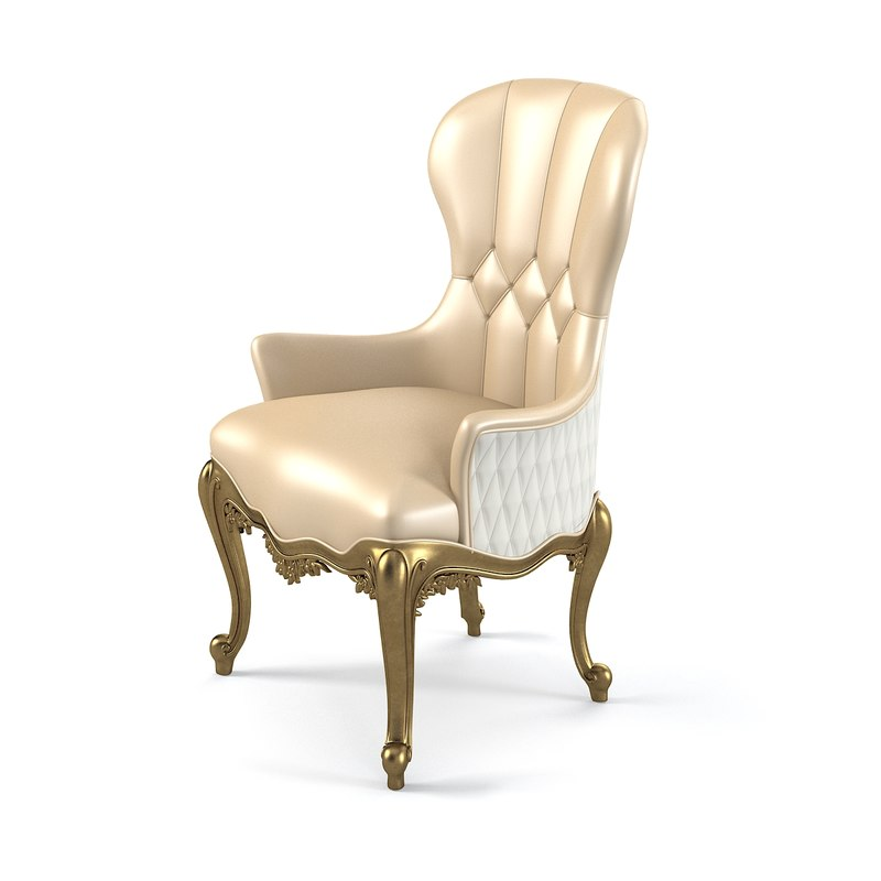 3d luxury dining chair