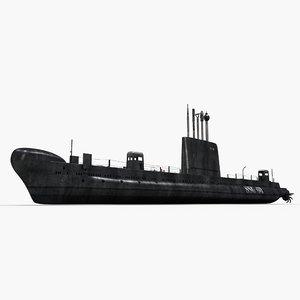 3dsmax oberon class submarine hmas