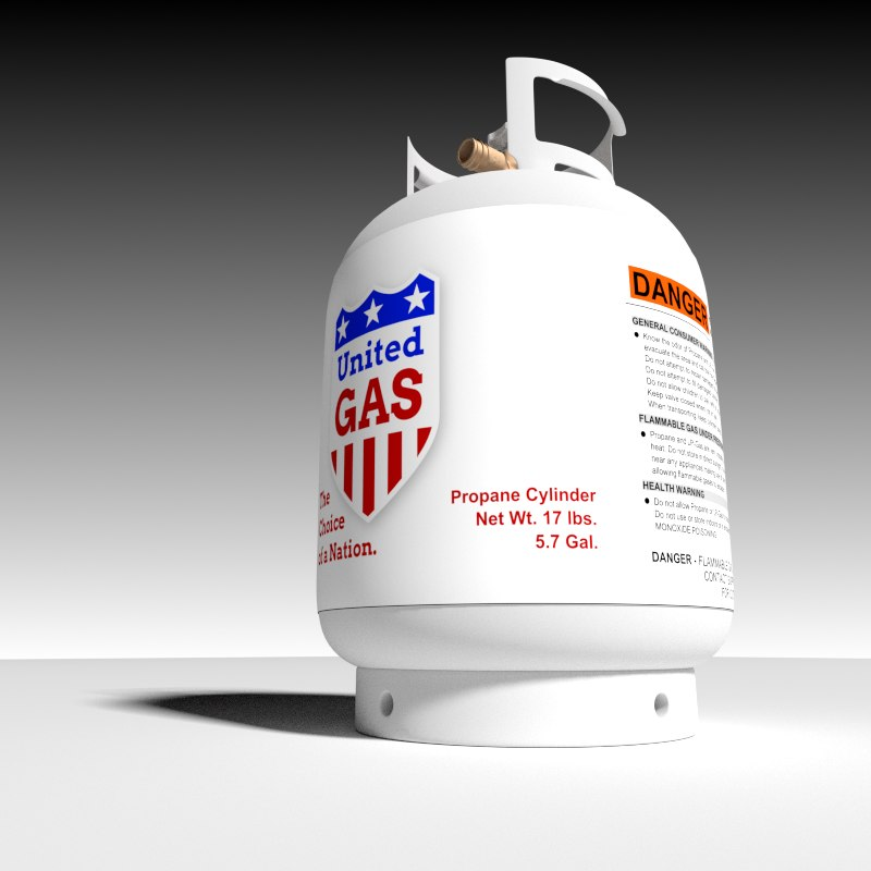 propane cylinder 3d 3ds