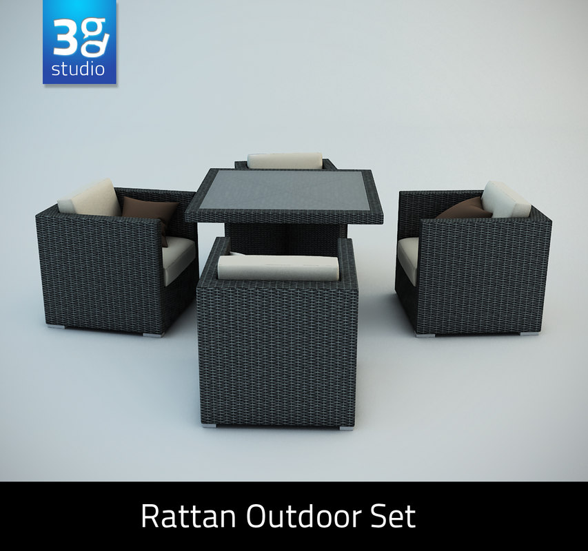 maya rattan outdoor set chairs
