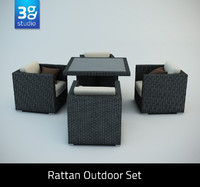 maya rattan outdoor set chairs