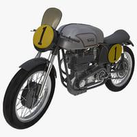Road Racing Motorcycle Norton Manx Rigged